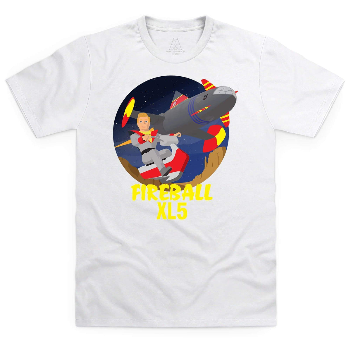Fireball XL5 Men's White T-Shirt [Official & Exclusive] - The Gerry Anderson Store