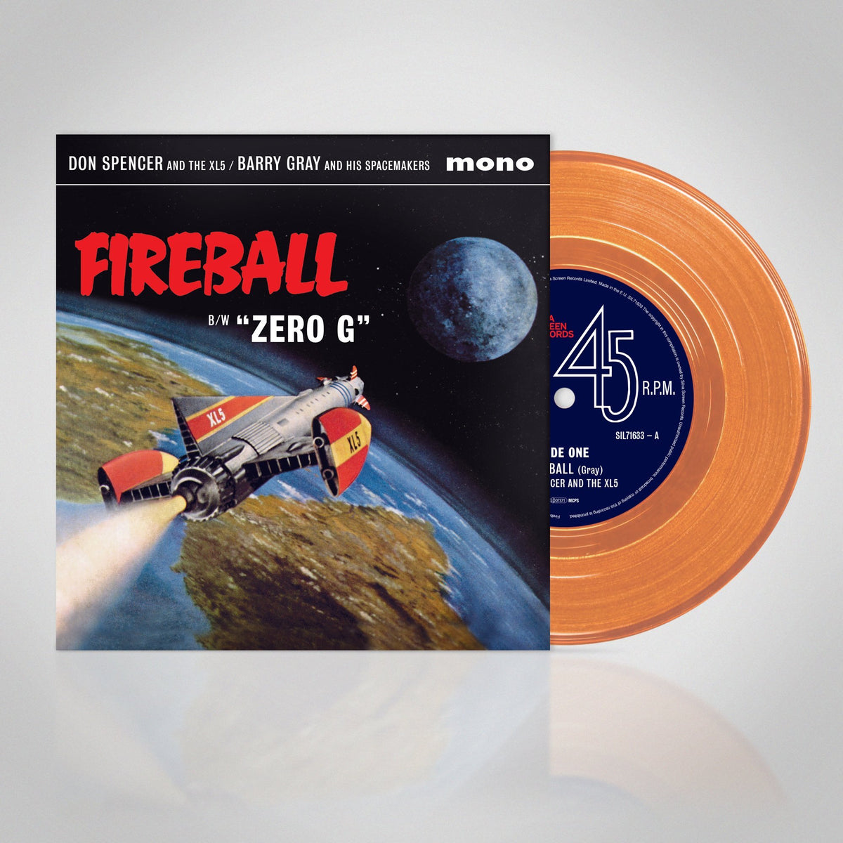 "Fireball XL5: Original Soundtrack: Barry Gray Feat. Don Spencer (Coloured Vinyl 7"" Single) - The Gerry Anderson Store"