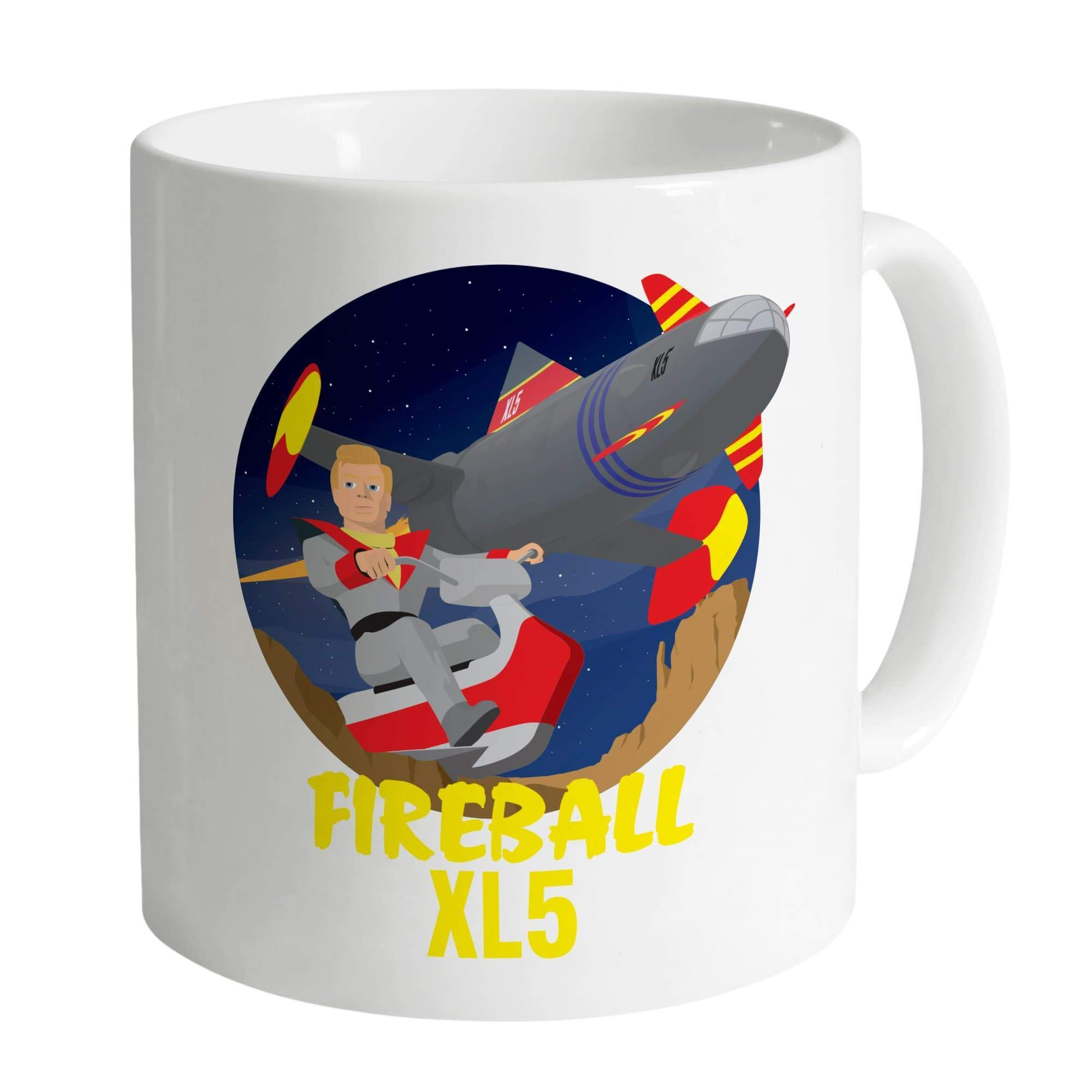 Fireball XL5 White Mug [Official & Exclusive] - The Gerry Anderson Store