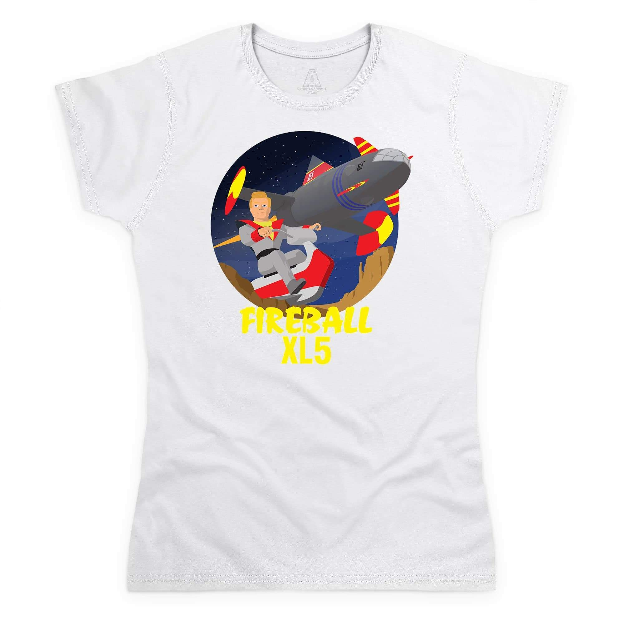 Fireball XL5 Women's White T-Shirt [Official & Exclusive] - The Gerry Anderson Store