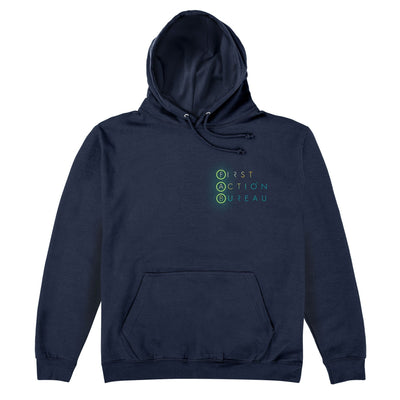 First Action Bureau Small Title Logo Hoodie [Official & Exclusive] - The Gerry Anderson Store