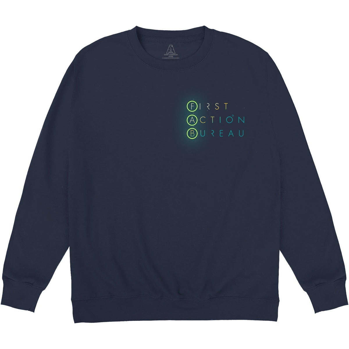 First Action Bureau Small Title Logo Sweatshirt [Official & Exclusive] - The Gerry Anderson Store