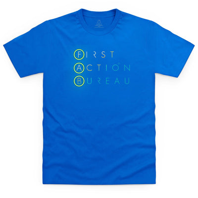 First Action Bureau Title Logo Kid's T-Shirt [Official & Exclusive] - The Gerry Anderson Store