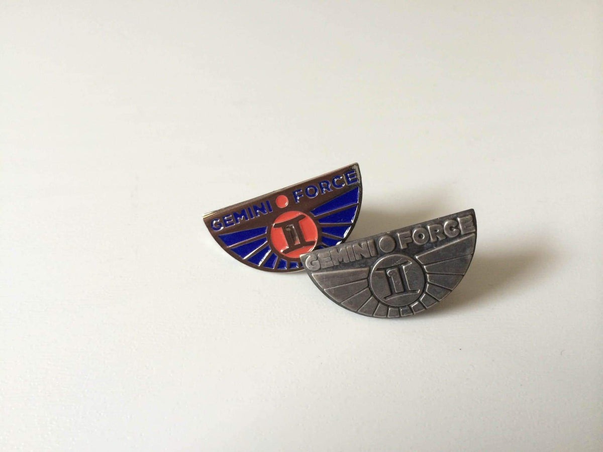 Gemini Force One Enamel or Pewter Pin Badge - The Gerry Anderson Store