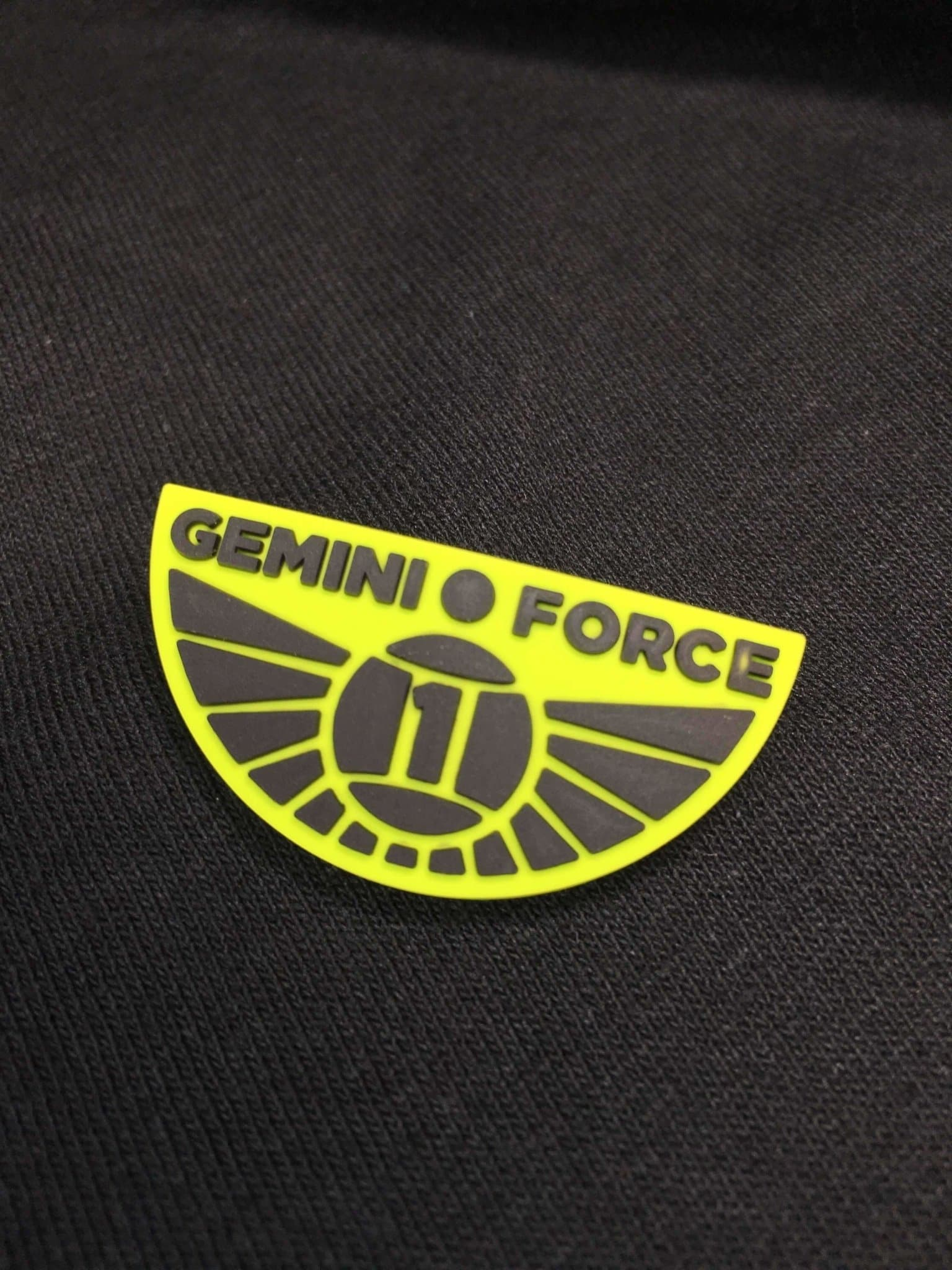 Gemini Force One Rubber Pin Badge - The Gerry Anderson Store