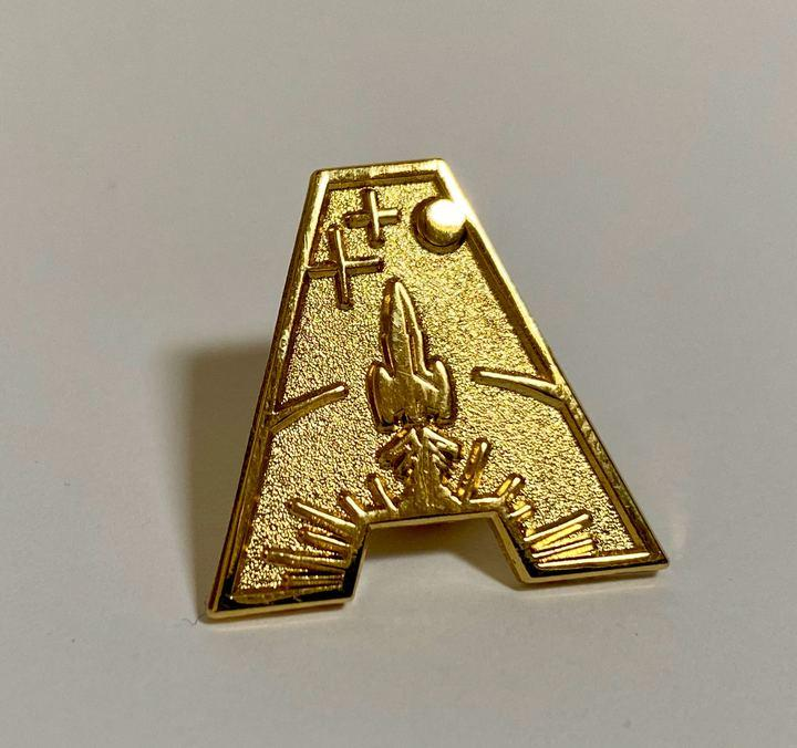 Gerry Anderson 'A' Metallic Pin Badges - The Gerry Anderson Store