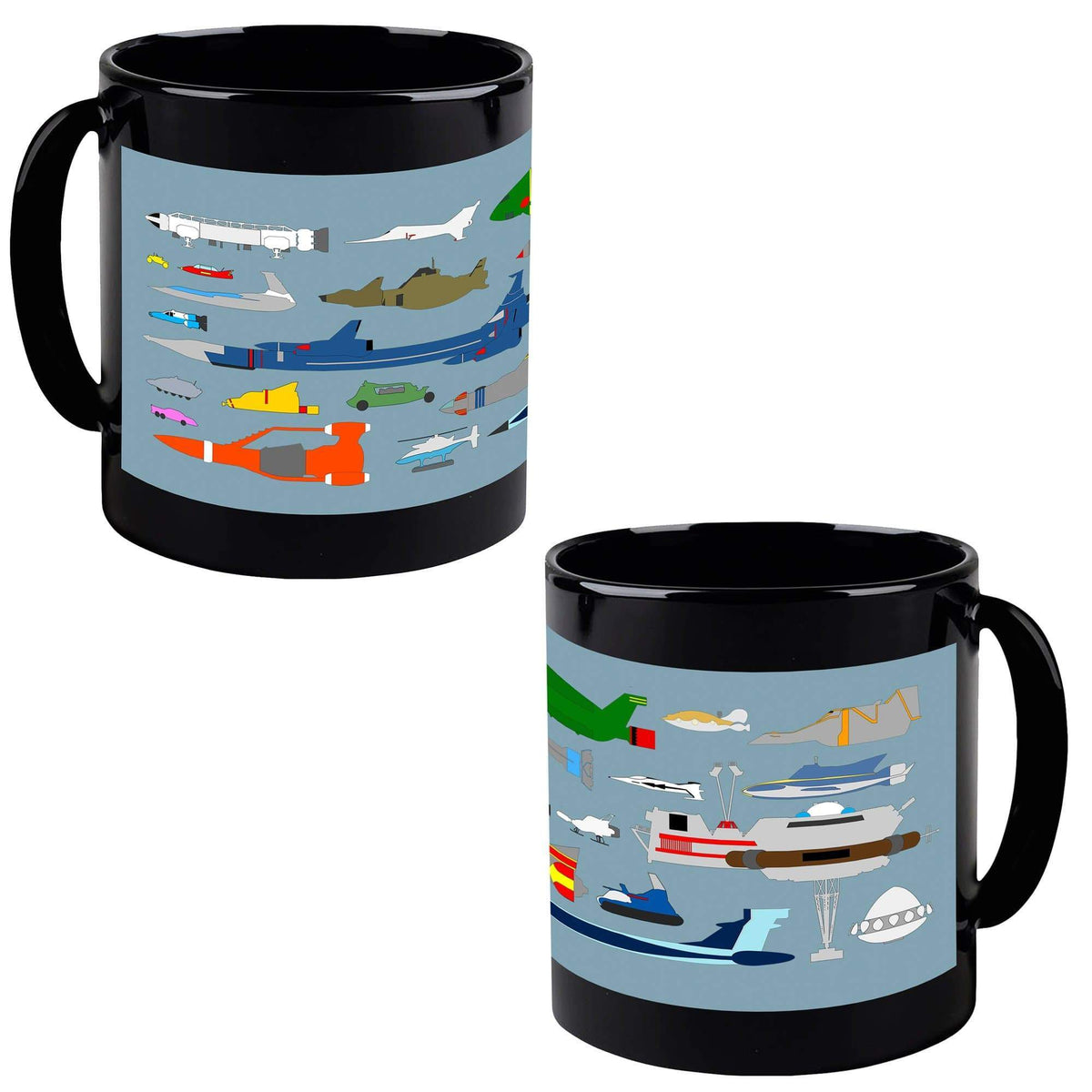 Gerry Anderson Vehicle Chart Mug - The Gerry Anderson Store