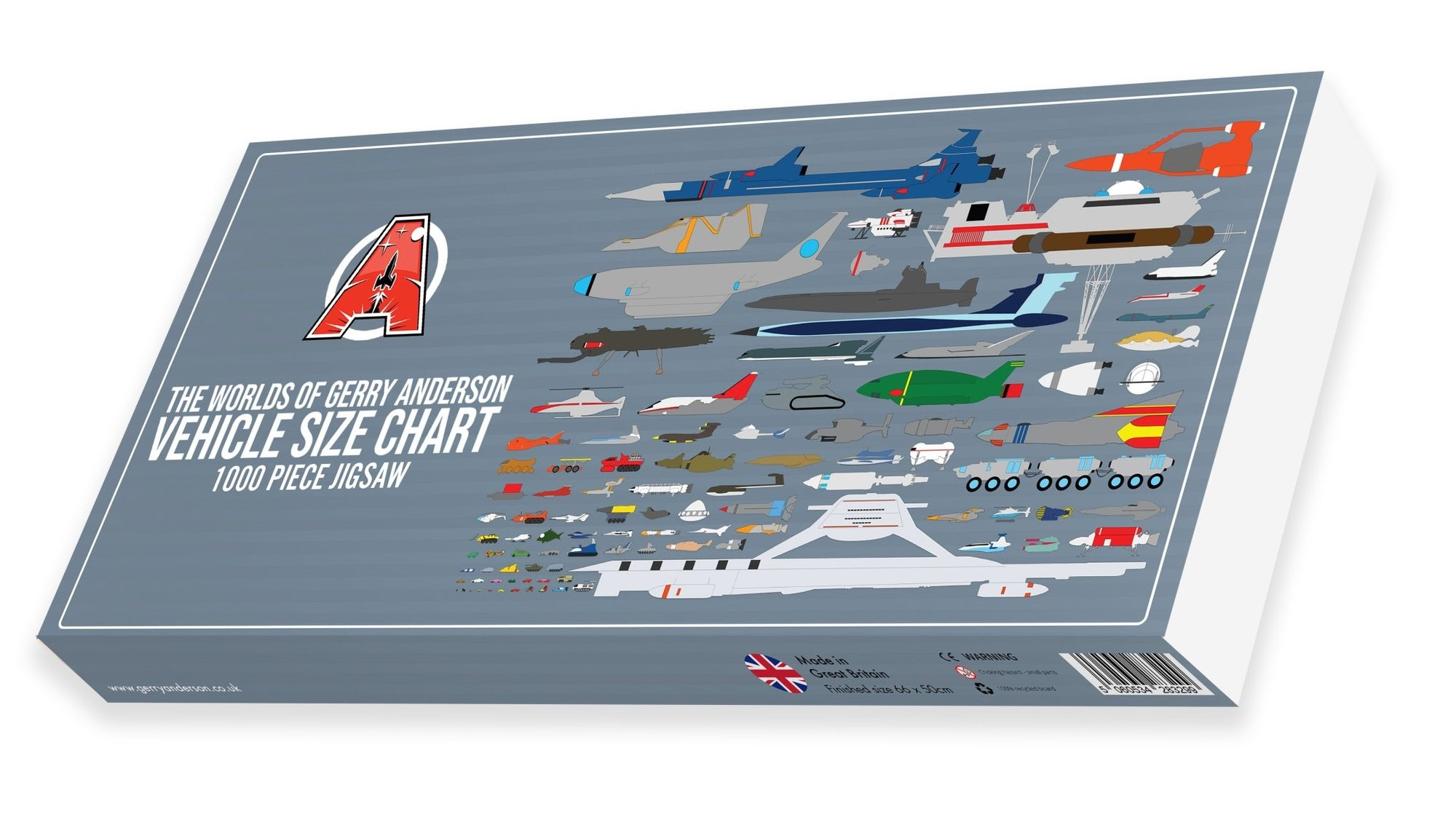 Gerry Anderson Vehicle Size Chart Jigsaw Puzzle - The Gerry Anderson Store