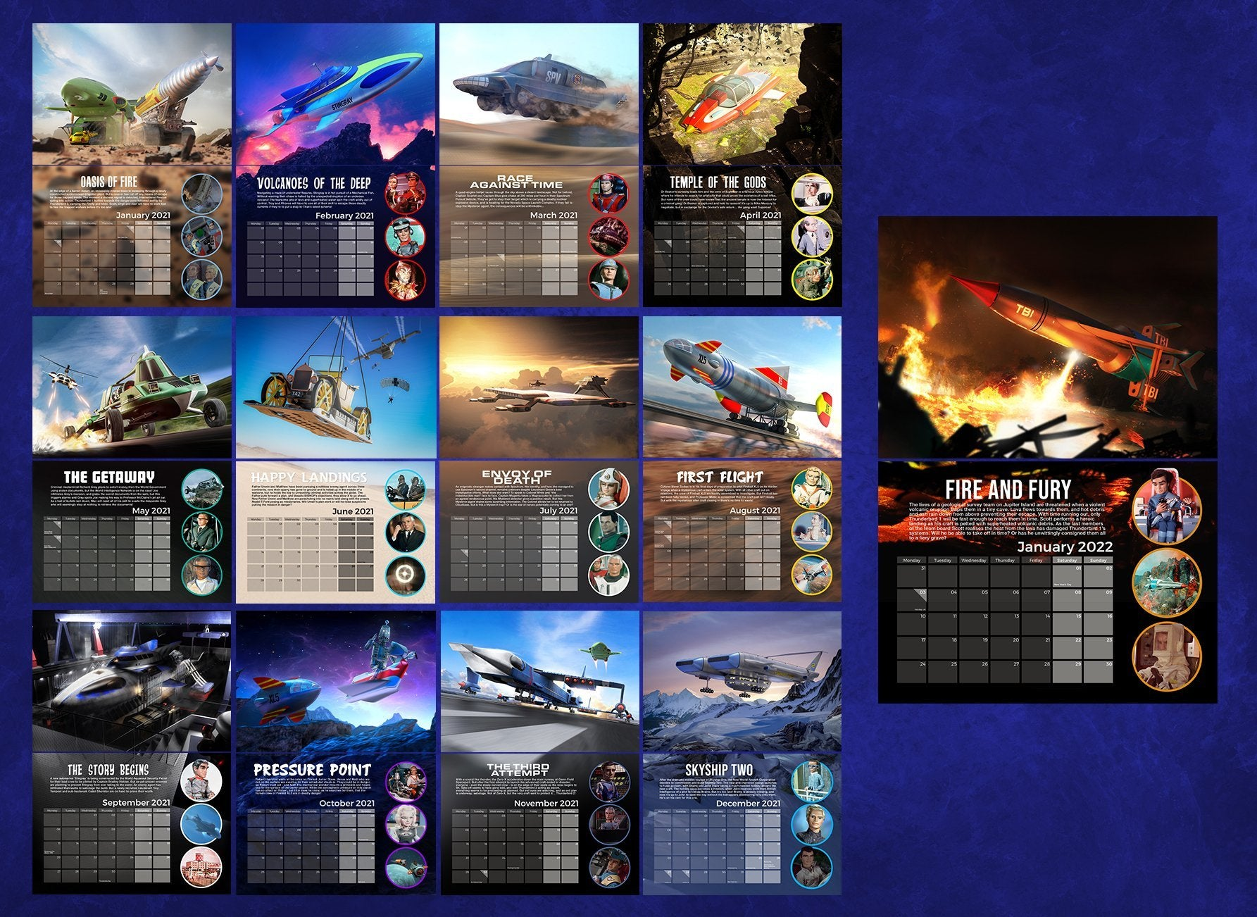 Gerry Anderson's Supermarionation 2021 Calendar [Official & Exclusive] - The Gerry Anderson Store