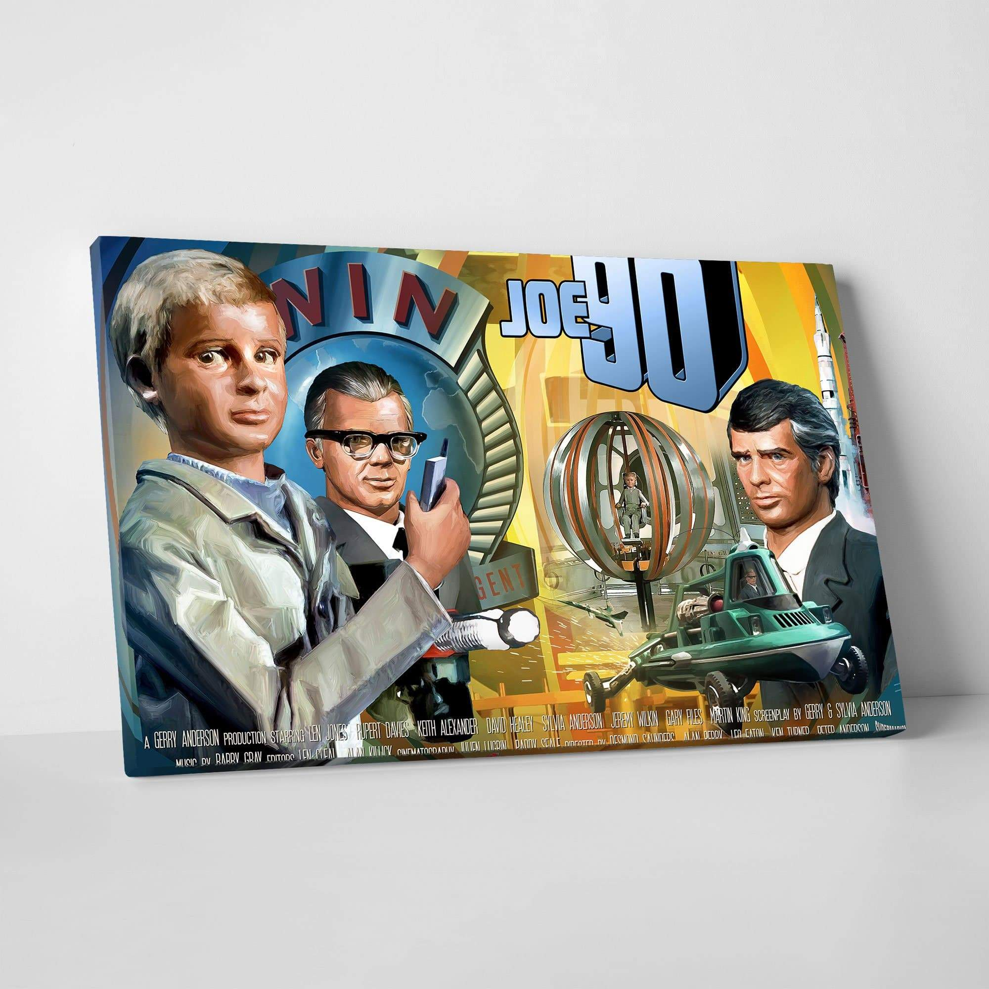 Joe 90 Canvas Print [Official & Exclusive] - The Gerry Anderson Store