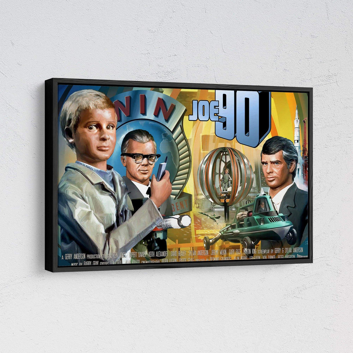 Joe 90 Framed Canvas Print [Official & Exclusive] - The Gerry Anderson Store