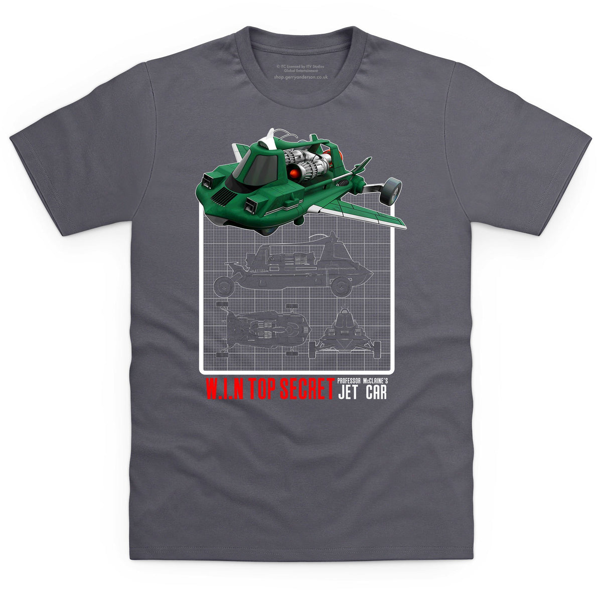 Joe 90 Mac's Jet Air Car Schematic Men's T-Shirt [Official & Exclusive] - The Gerry Anderson Store