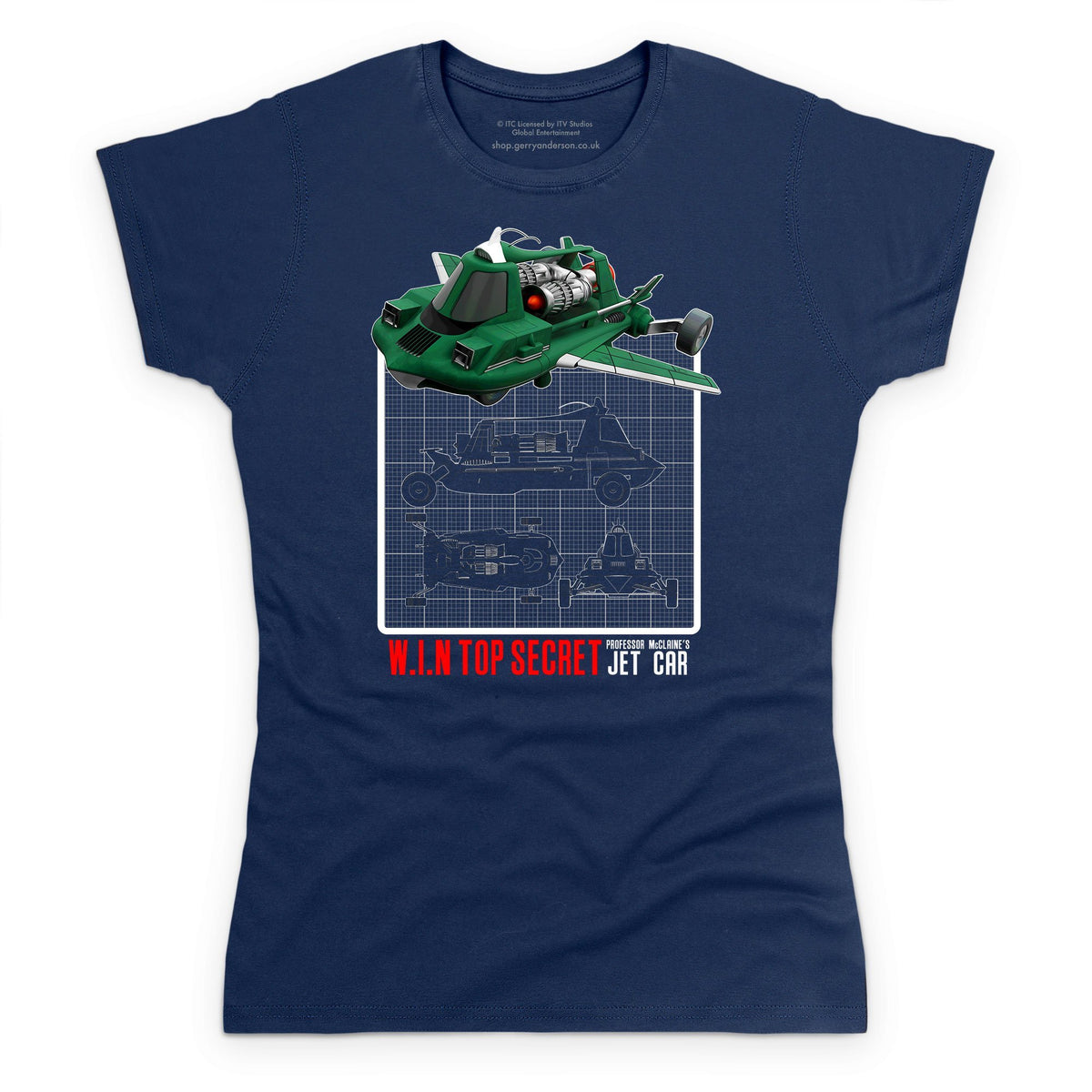 Joe 90 Mac's Jet Air Car Schematic Women's T-Shirt [Official & Exclusive] - The Gerry Anderson Store