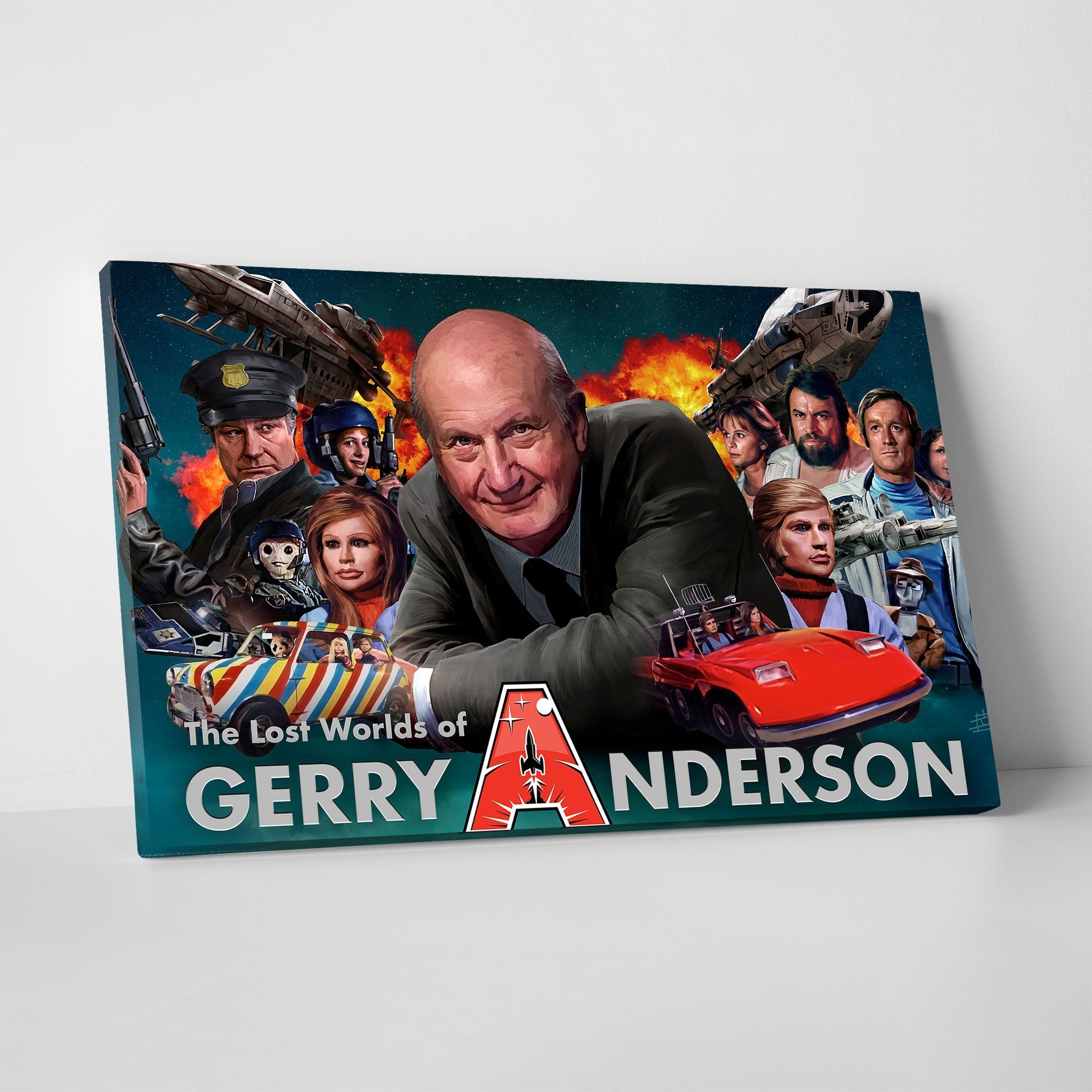 Lost Worlds of Gerry Anderson Canvas Print [Official and Exclusive] - The Gerry Anderson Store
