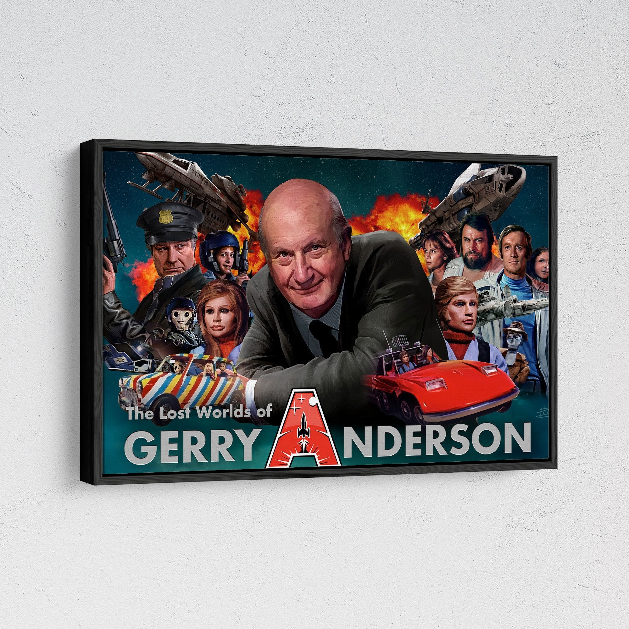Lost Worlds of Gerry Anderson Framed Canvas Print [Official and Exclusive] - The Gerry Anderson Store