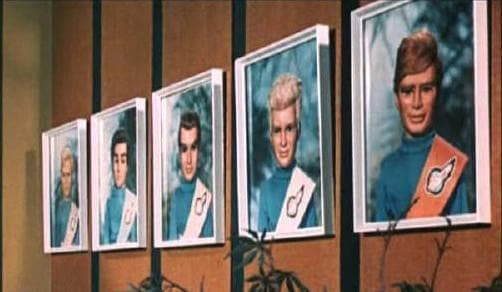 Tracy Brothers Portrait Set - Thunderbirds Prints [Framed] - Gerry Anderson Official - 2