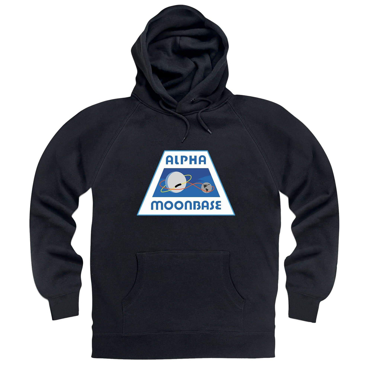 Moonbase Alpha/Space: 1999 Black Hoodie [Official & Exclusive] - The Gerry Anderson Store