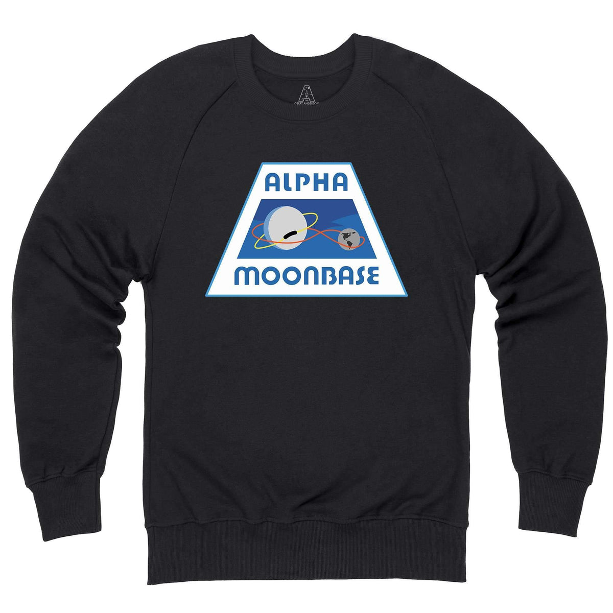 Moonbase Alpha/Space: 1999 Black Sweatshirt [Official & Exclusive] - The Gerry Anderson Store