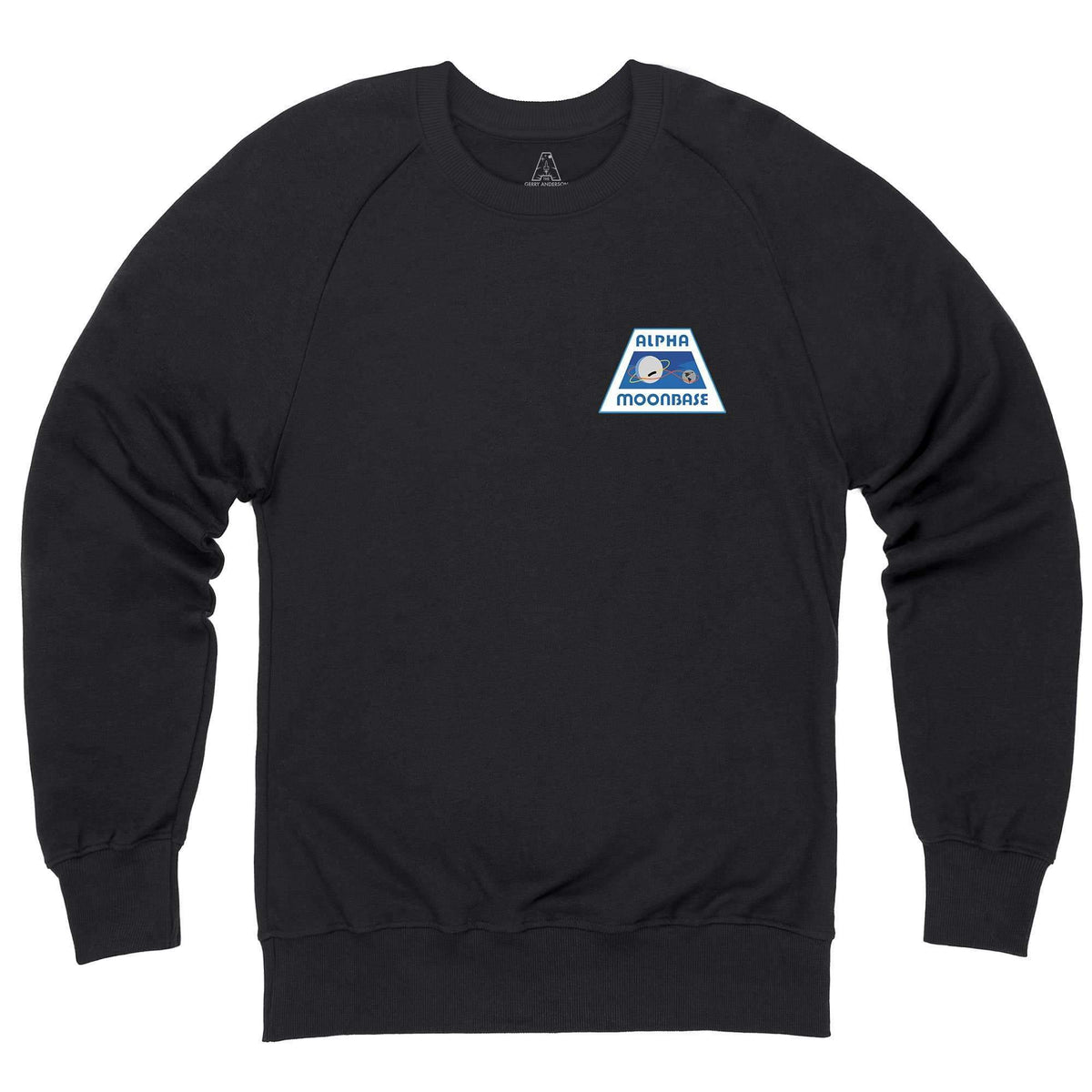 Moonbase Alpha/Space: 1999 Black Sweatshirt-Small Logo [Official & Exclusive] [Official & Exclusive] - The Gerry Anderson Store