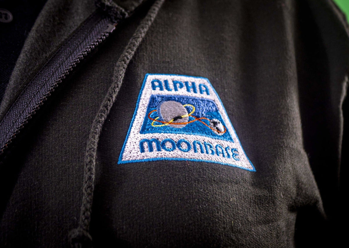 Moonbase Alpha/Space: 1999 Men's Zipped Hoodie with Embroidery [Official & Exclusive] - The Gerry Anderson Store