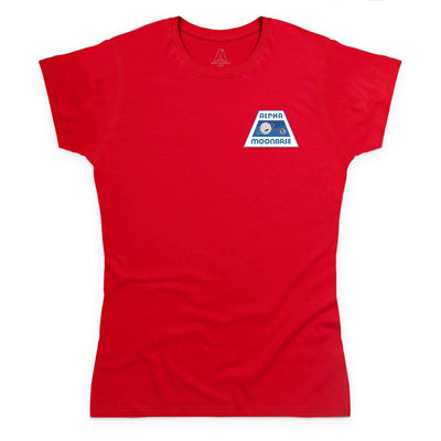 Moonbase Alpha/Space: 1999 Women's T-Shirt-Small Logo [Official & Exclusive] - The Gerry Anderson Store