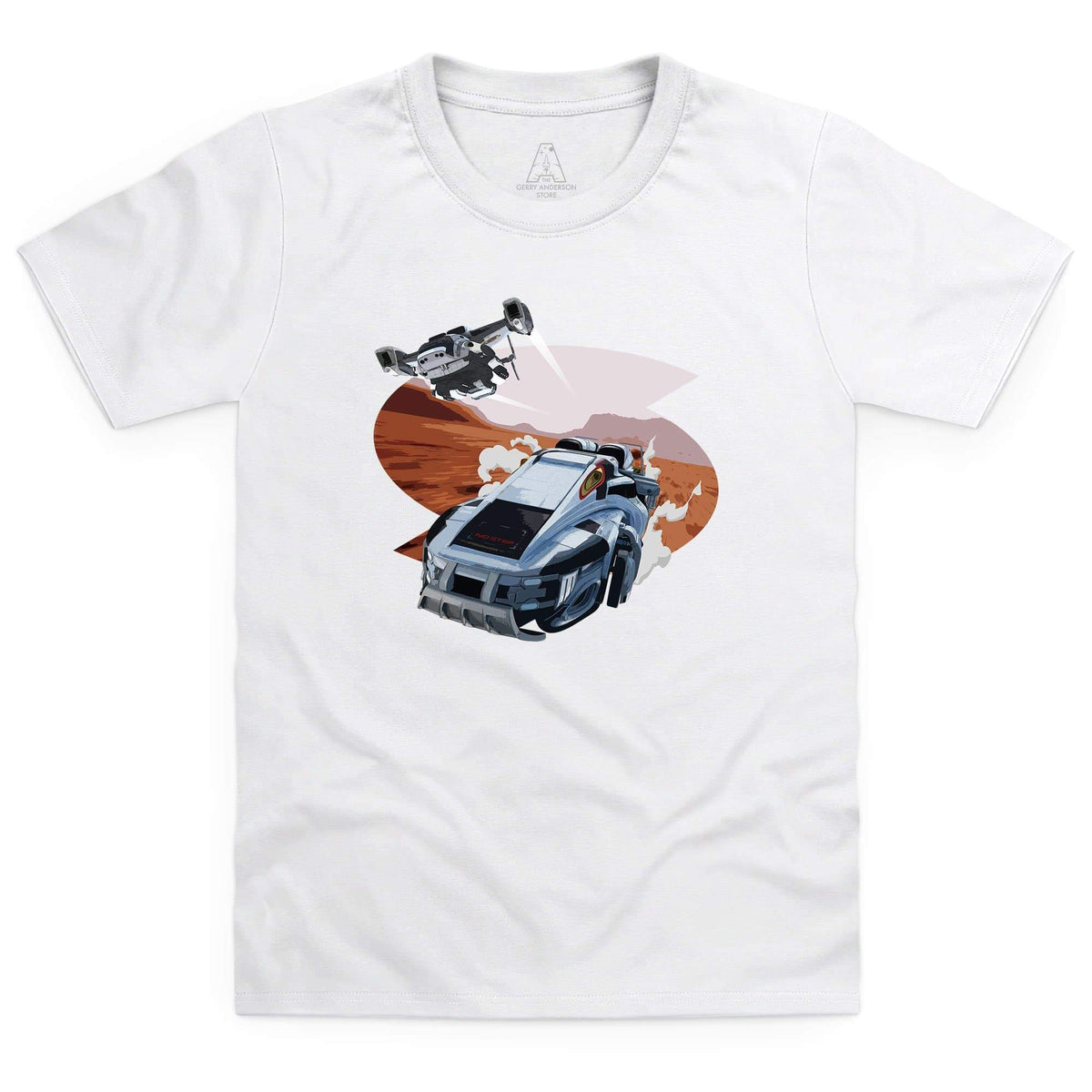 New Captain Scarlet Rhino Kid's White T-Shirt [Official & Exclusive] - The Gerry Anderson Store