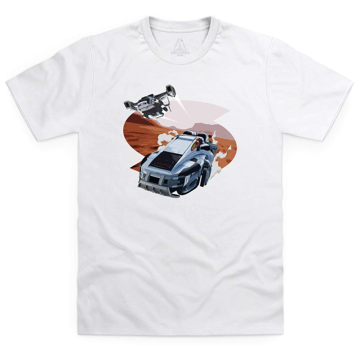 New Captain Scarlet Rhino Men's White T-Shirt [Official & Exclusive] - The Gerry Anderson Store