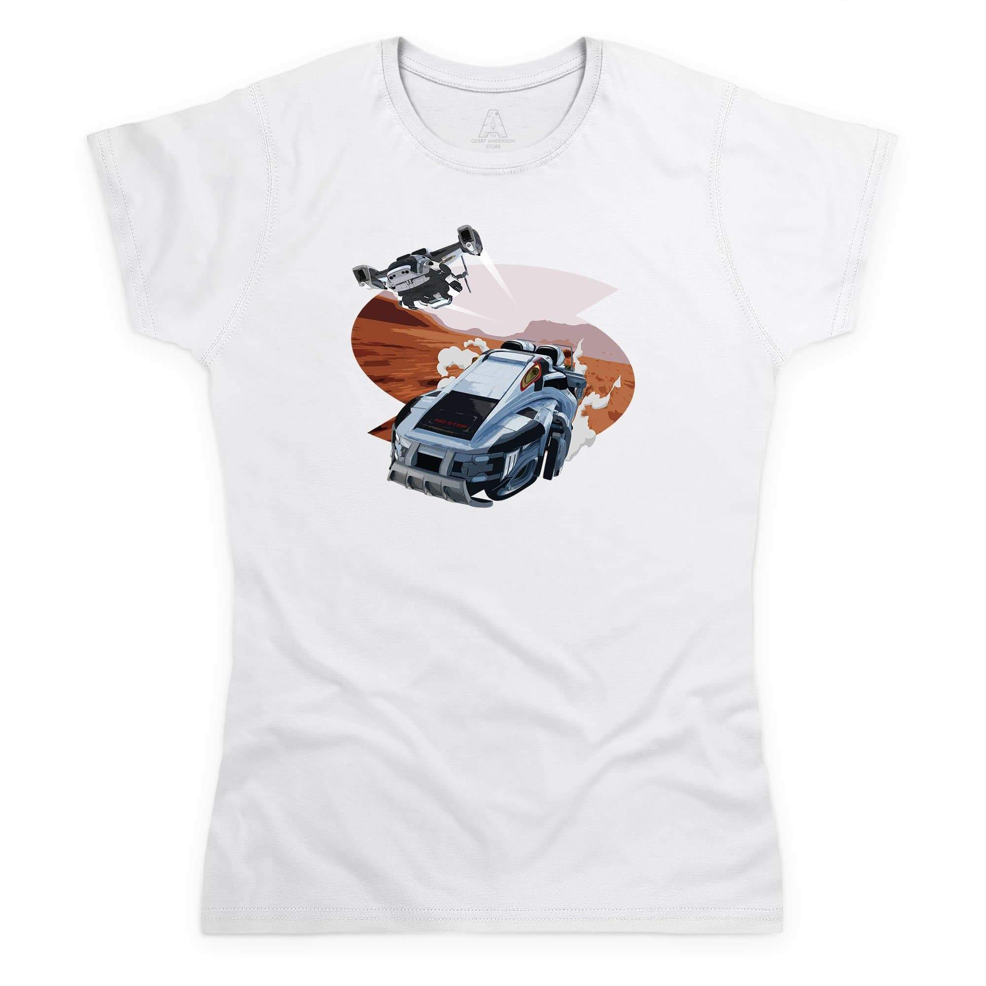 New Captain Scarlet Rhino Women's White T-Shirt [Official & Exclusive] - The Gerry Anderson Store