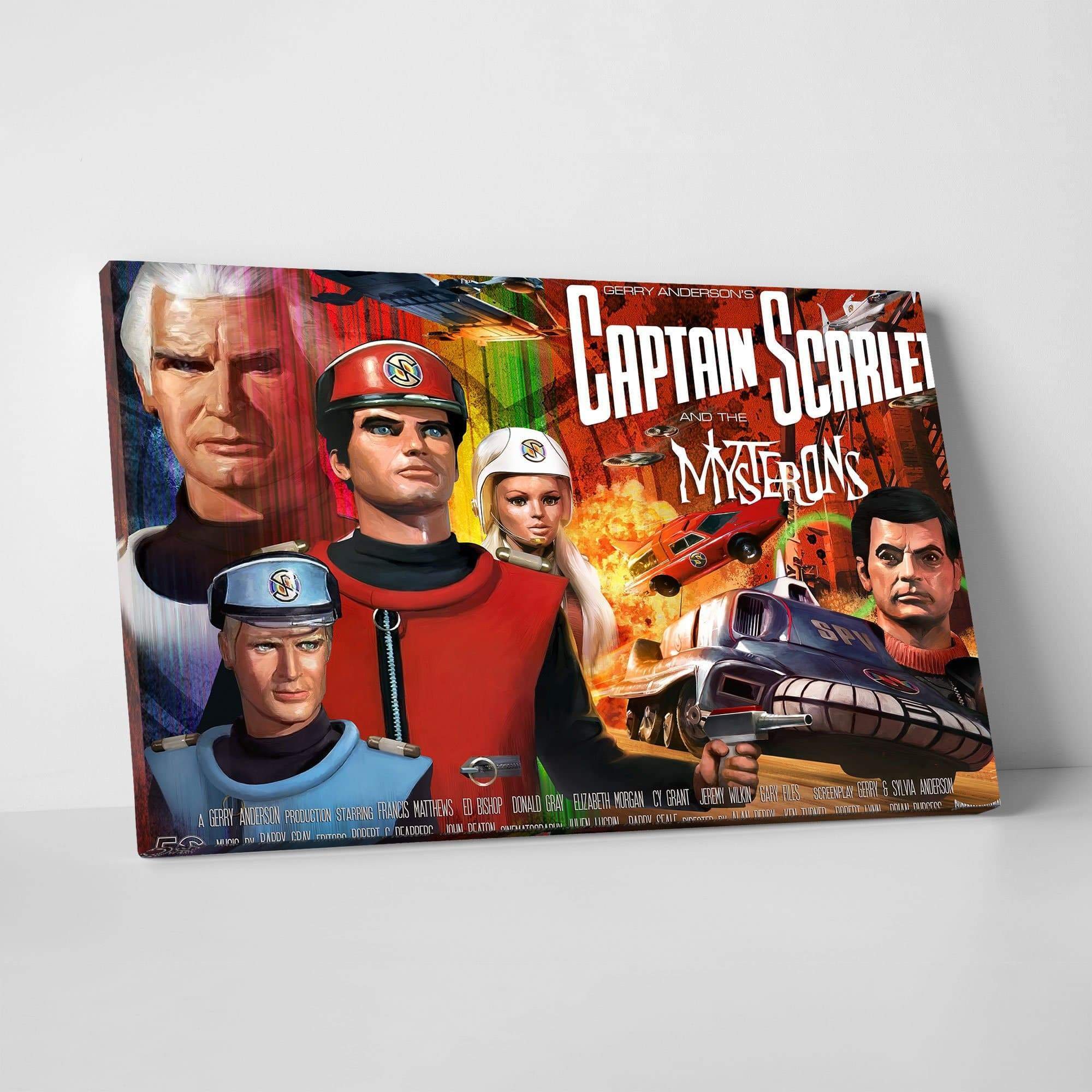 Official Captain Scarlet 50th Anniversary Canvas Print [Official & Exclusive] - The Gerry Anderson Store