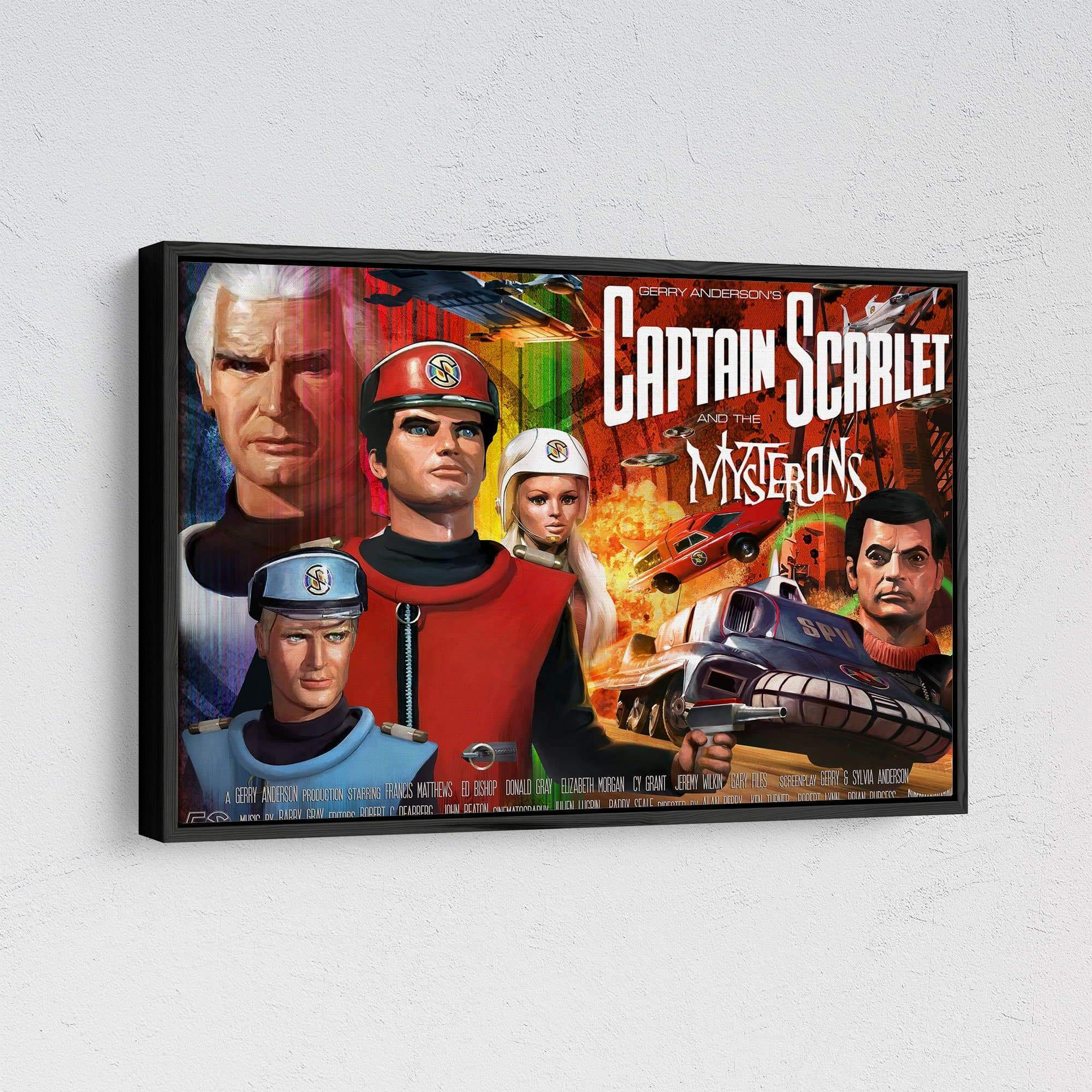 Official Captain Scarlet 50th Anniversary Framed Canvas Print [Official & Exclusive] - The Gerry Anderson Store