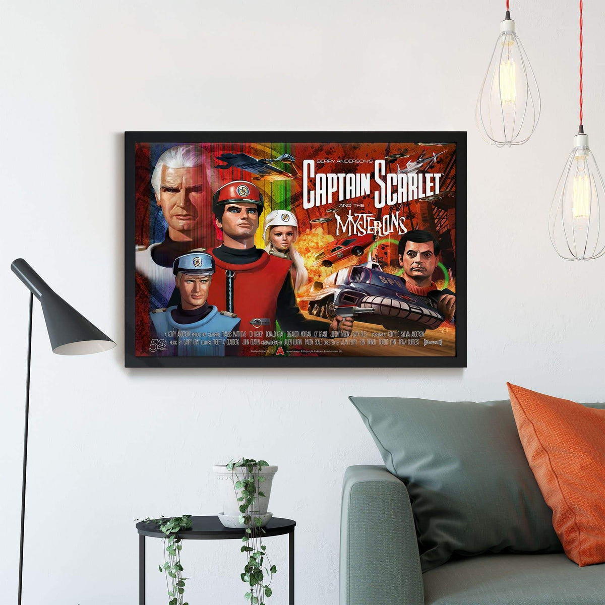 Official Captain Scarlet 50th Anniversary Framed Print [Official & Exclusive] - The Gerry Anderson Store