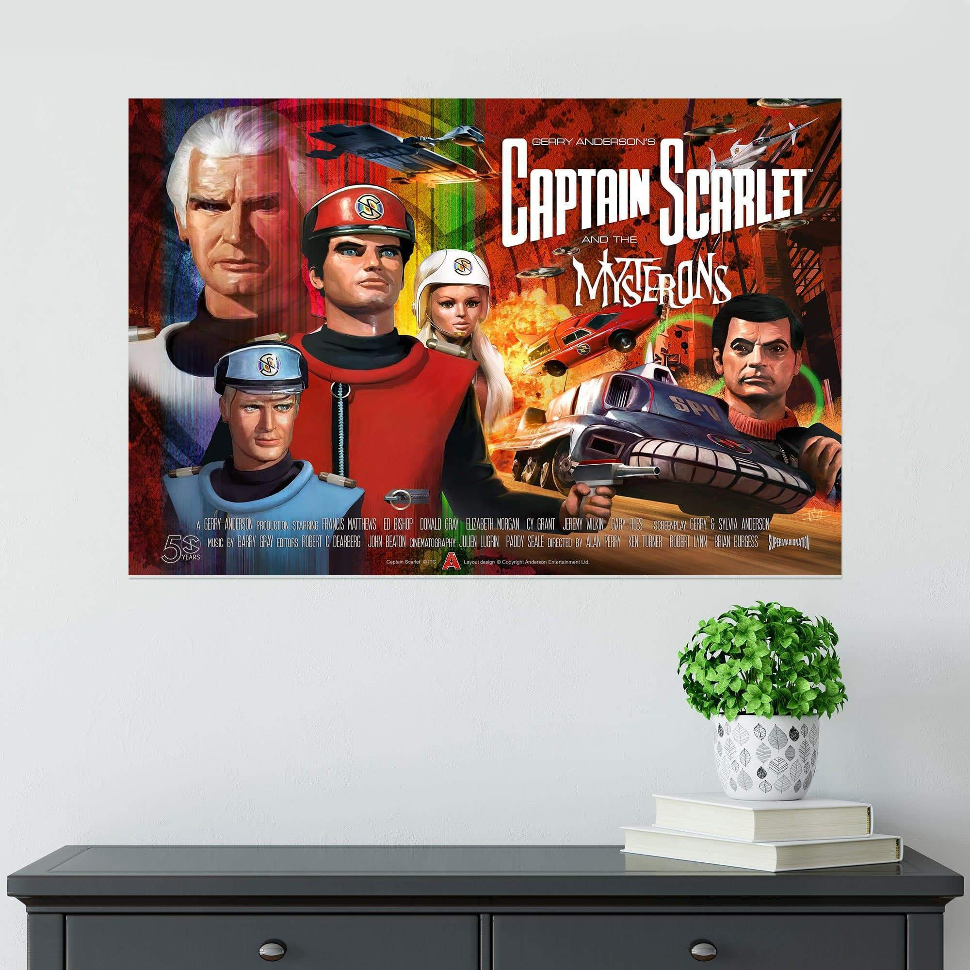 Official Captain Scarlet 50th Anniversary Poster [Official & Exclusive] - The Gerry Anderson Store