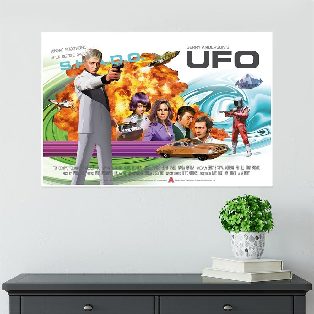 Official UFO 50th Anniversary Poster - The Gerry Anderson Store