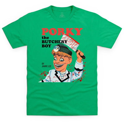 Porky the Butchery Boy Halloween Men's T-Shirt (Torchy Parody) - The Gerry Anderson Store