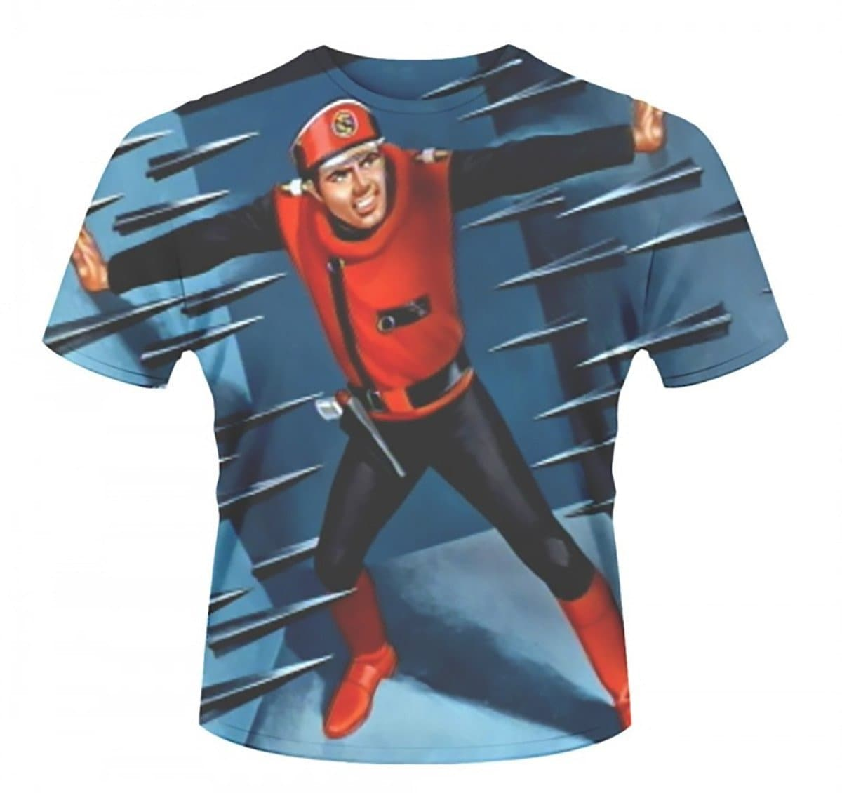 Captain Scarlet Spikes T-Shirt - Gerry Anderson Official