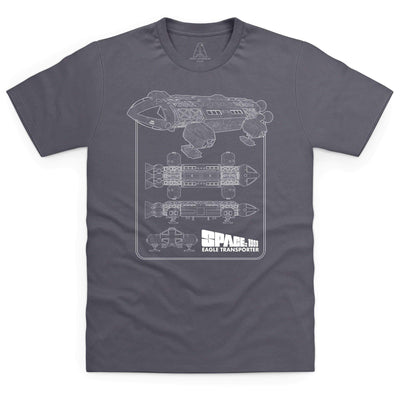 Space: 1999 Eagle Schematic Men's T-Shirt [Official & Exclusive] - The Gerry Anderson Store