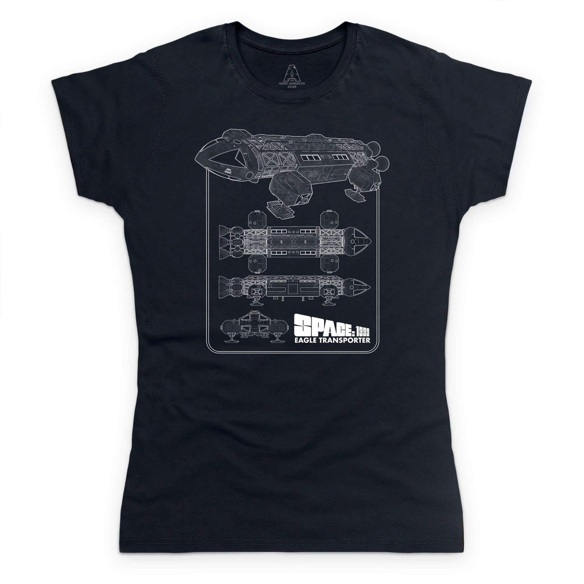 Space: 1999 Eagle Schematic Women's T-Shirt [Official & Exclusive] - The Gerry Anderson Store