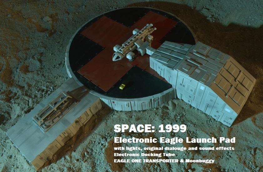 Space: 1999 Electronic Moonbase Alpha Eagle Launch Pad with Eagle One - The Gerry Anderson Store
