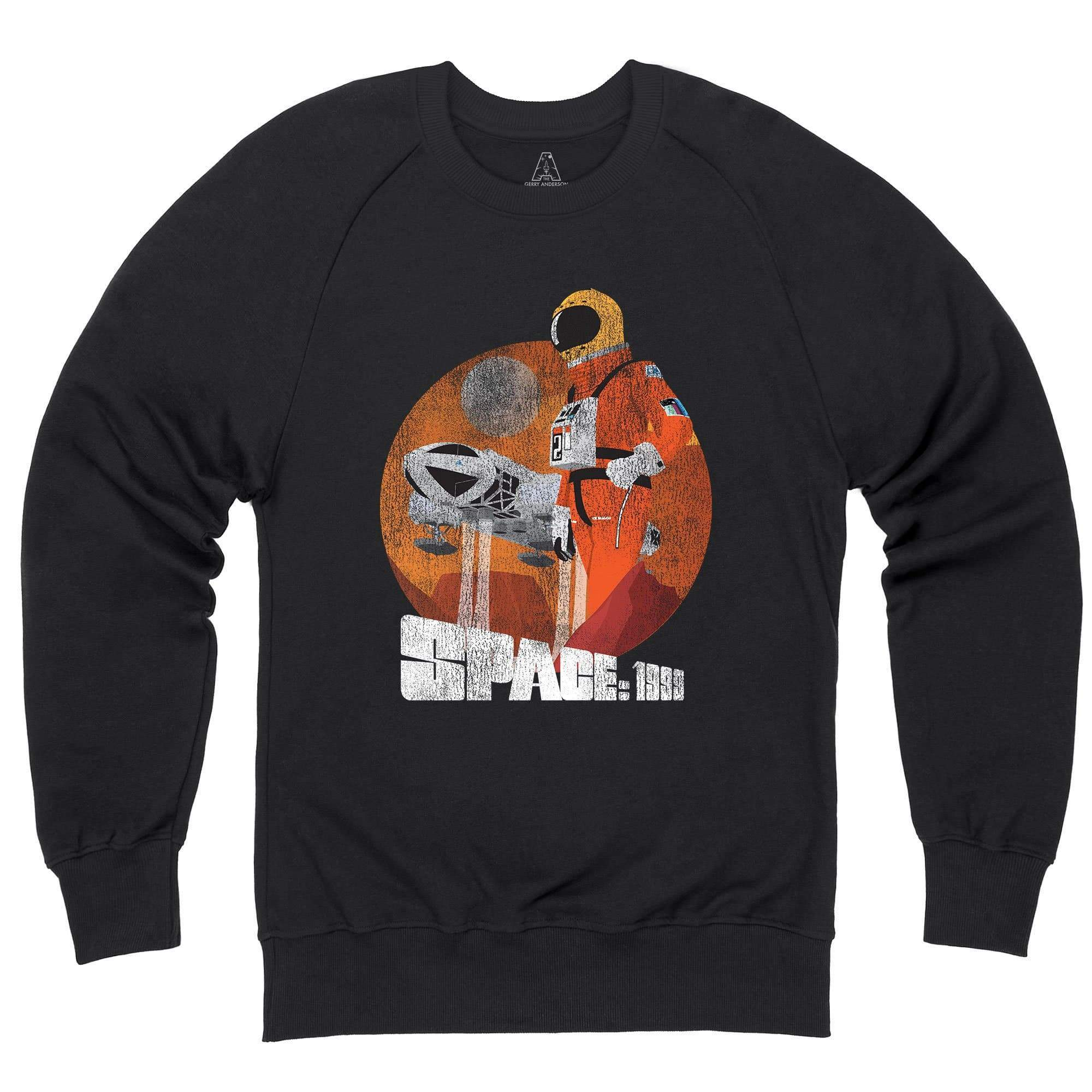 Space: 1999 Vintage Style Alphan Graphic Black Sweatshirt [Official & Exclusive] - The Gerry Anderson Store