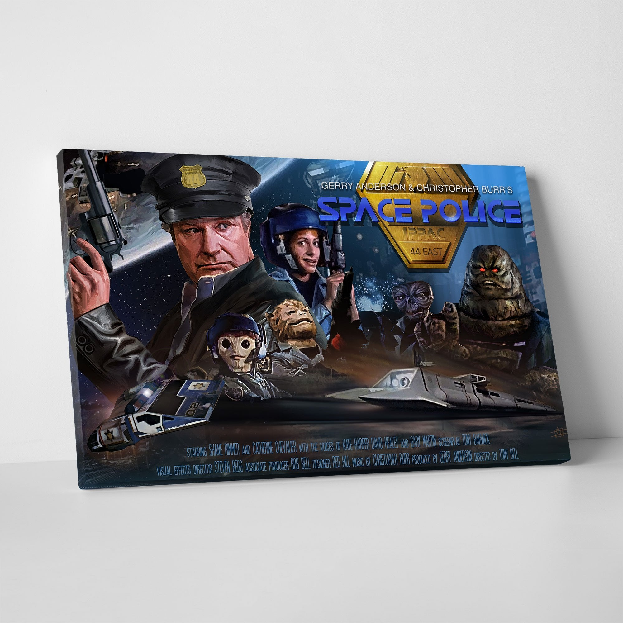 Space Police Canvas Print [Official and Exclusive] - The Gerry Anderson Store