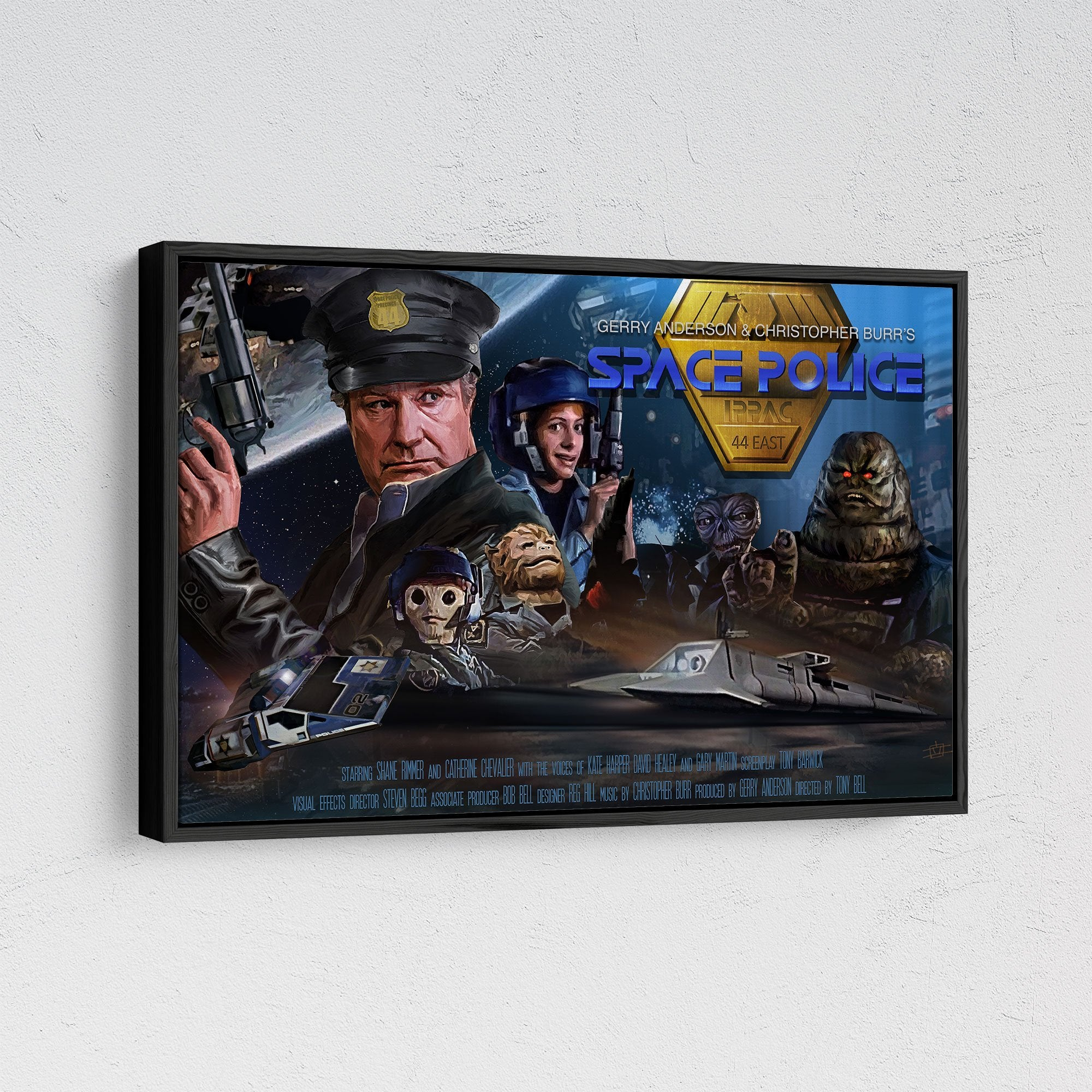 Space Police Framed Canvas Print [Official and Exclusive] - The Gerry Anderson Store
