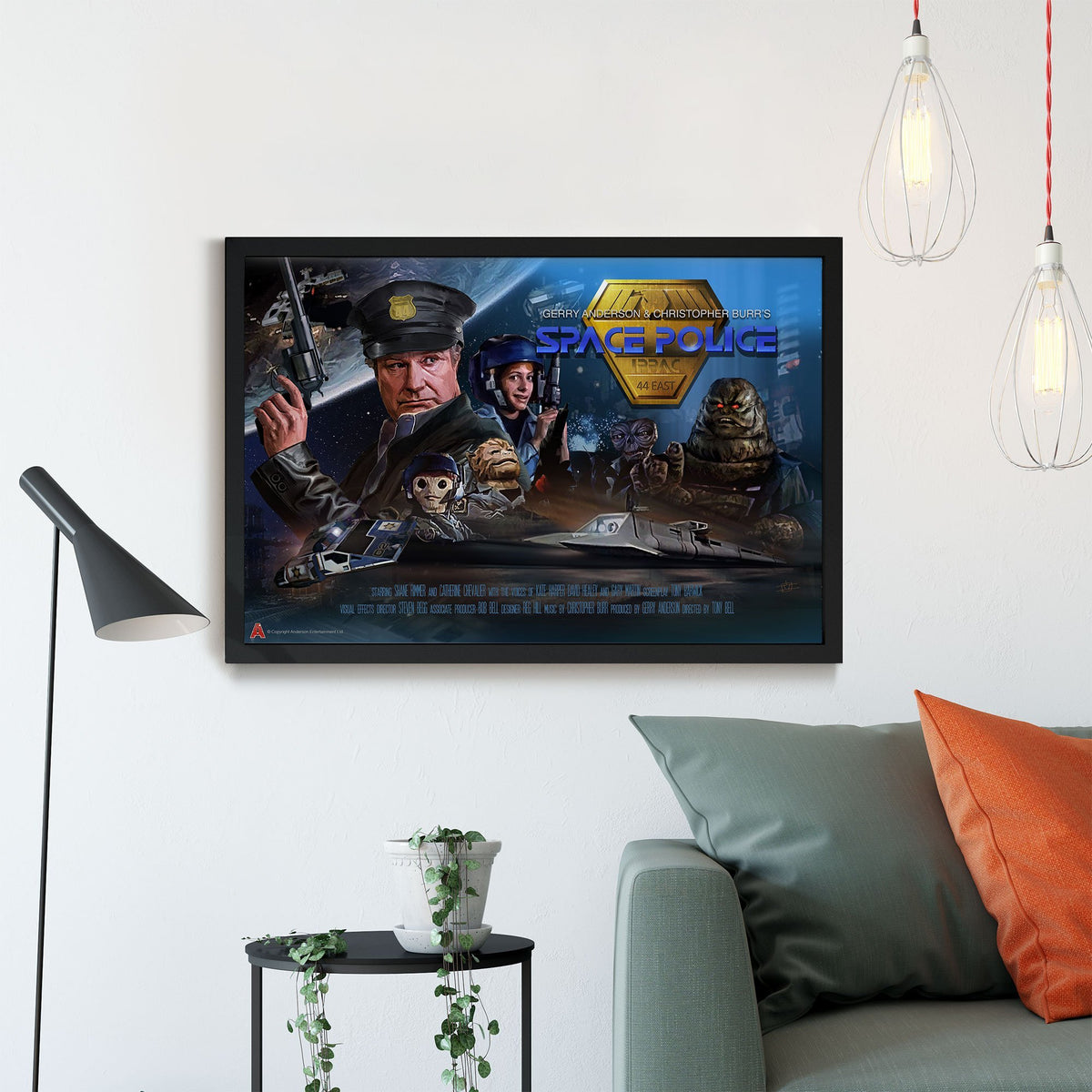 Space Police Framed Print [Official and Exclusive] - The Gerry Anderson Store