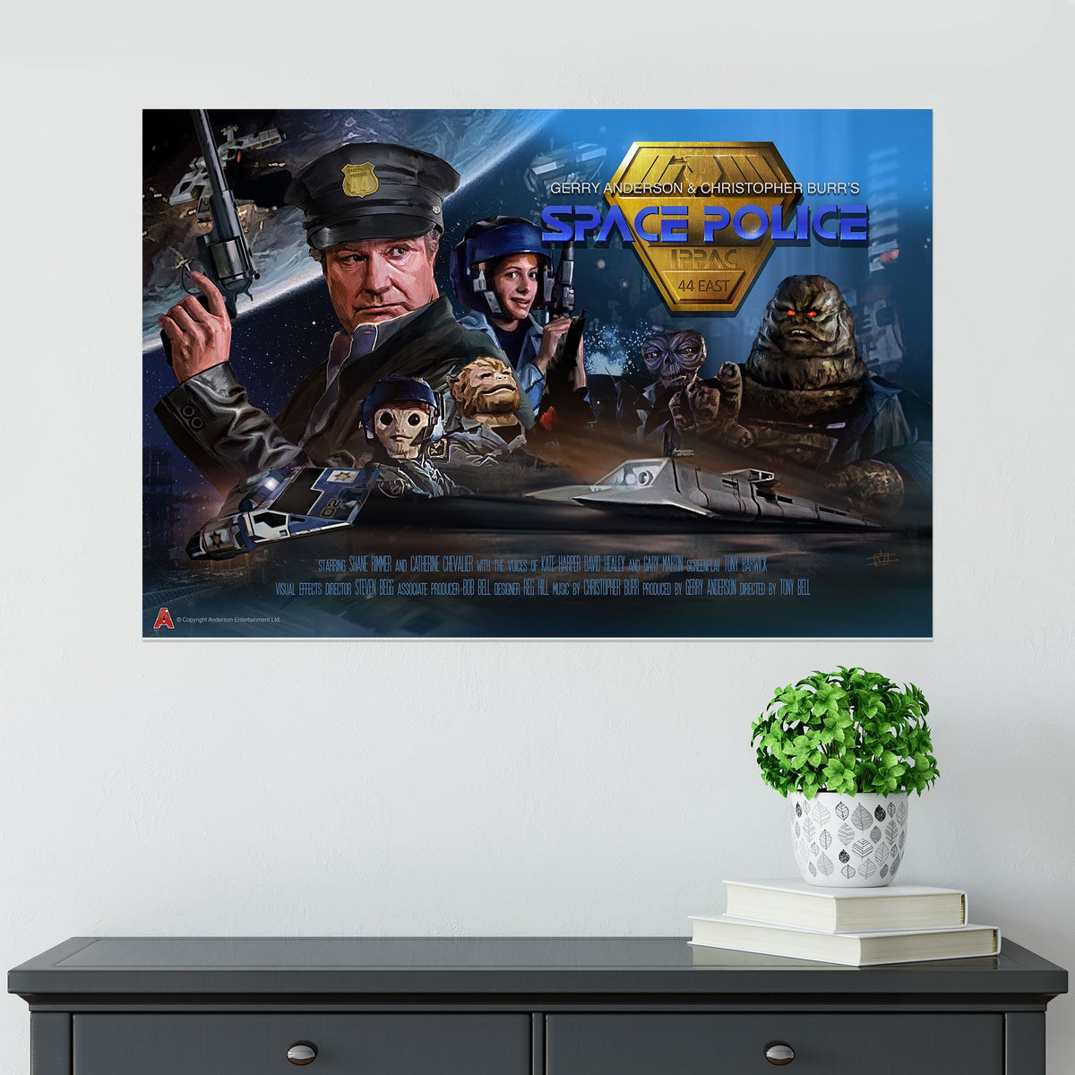 Space Police Poster [Official and Exclusive] - The Gerry Anderson Store
