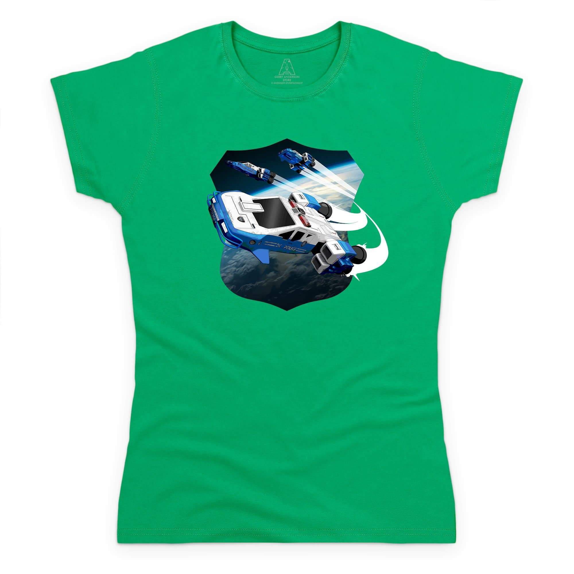 Space Precinct Cruiser Women's T-Shirt [Official & Exclusive] - The Gerry Anderson Store