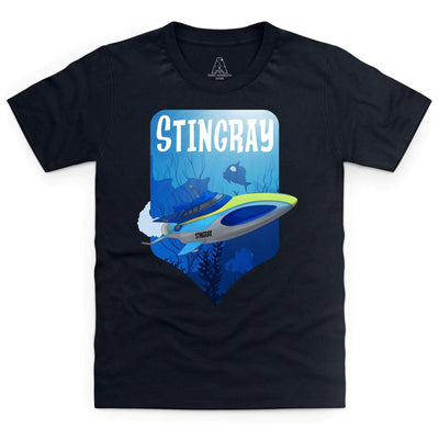 Stingray Dives Under The Sea Kid's T-Shirt [Official & Exclusive] - The Gerry Anderson Store