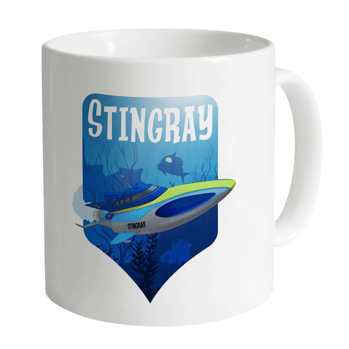 Stingray Dives Under The Sea White Mug [Official & Exclusive] - The Gerry Anderson Store