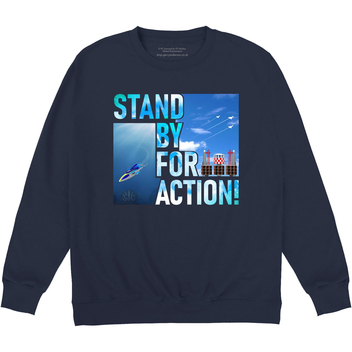 Stingray - Stand By For Action Sweatshirt [Official & Exclusive] - The Gerry Anderson Store