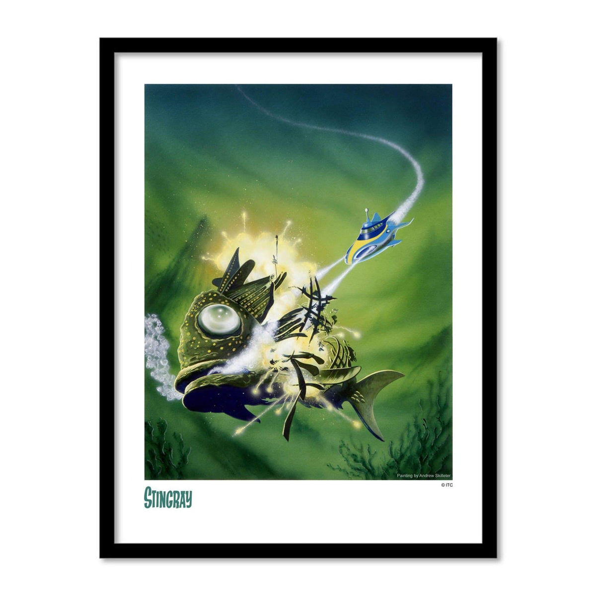 Stingray Terror Fish Destruction Artist Signed Print (Official & Exclusive] - The Gerry Anderson Store