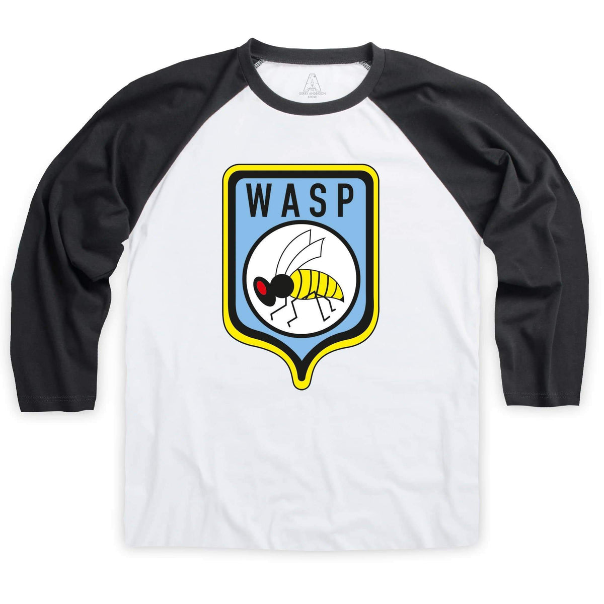 Stingray WASP Logo Baseball T-Shirt [Official & Exclusive] - The Gerry Anderson Store