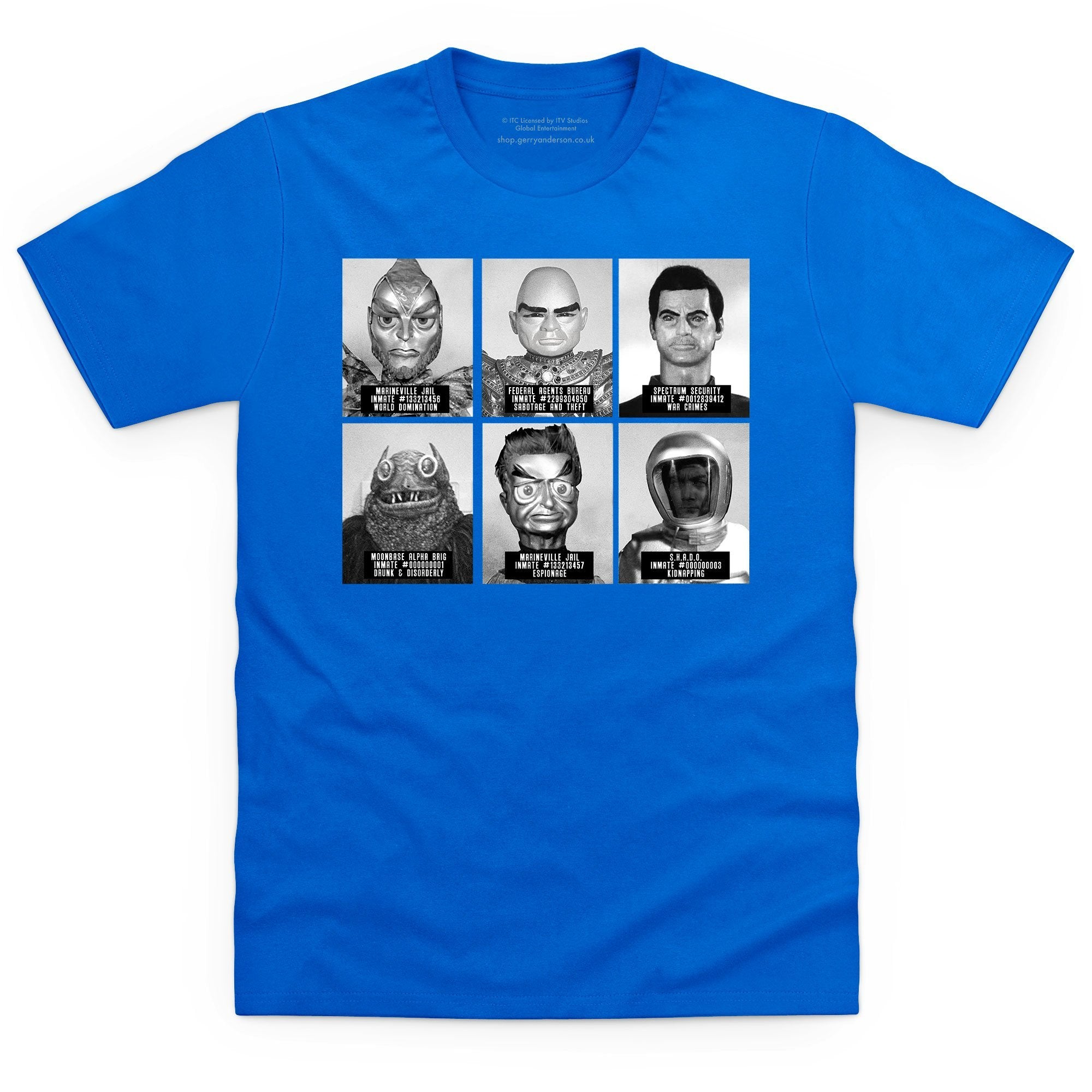 Suspects and Villains Men's T-shirt [Official & Exclusive] - The Gerry Anderson Store